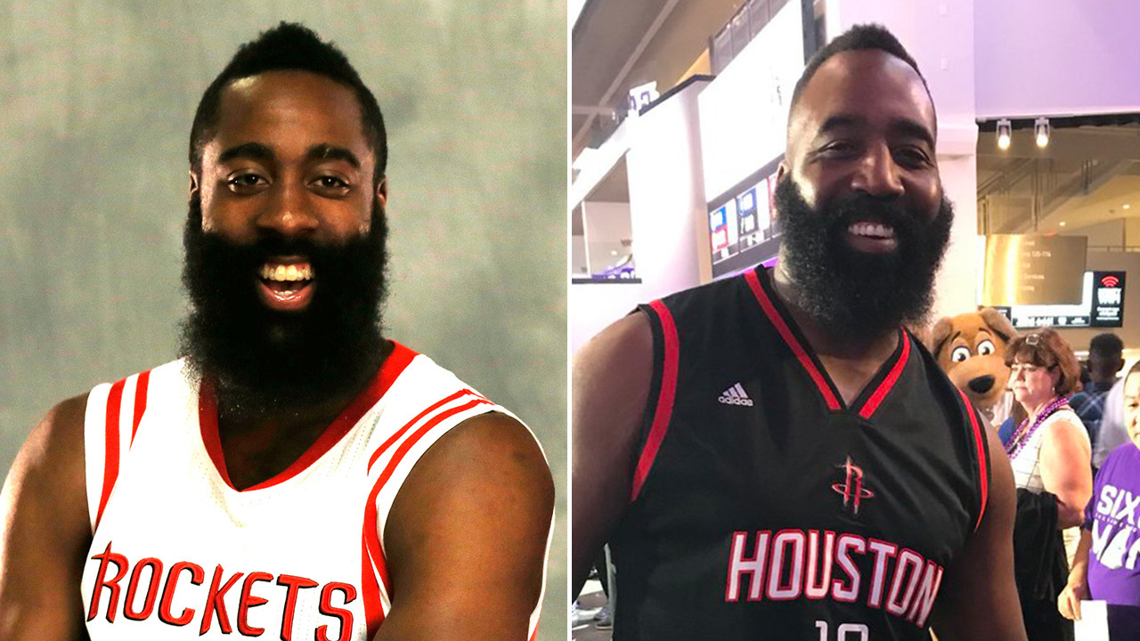 Rockets fans do double-take as James Harden look-alike steps...