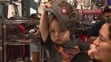Astros fans line up for American League Champions apparel