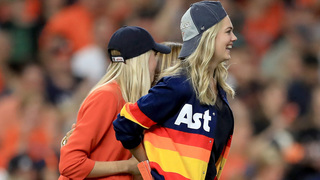 Kate Upton Wears Hard To Find Astros Sweater To Alcs Game 7