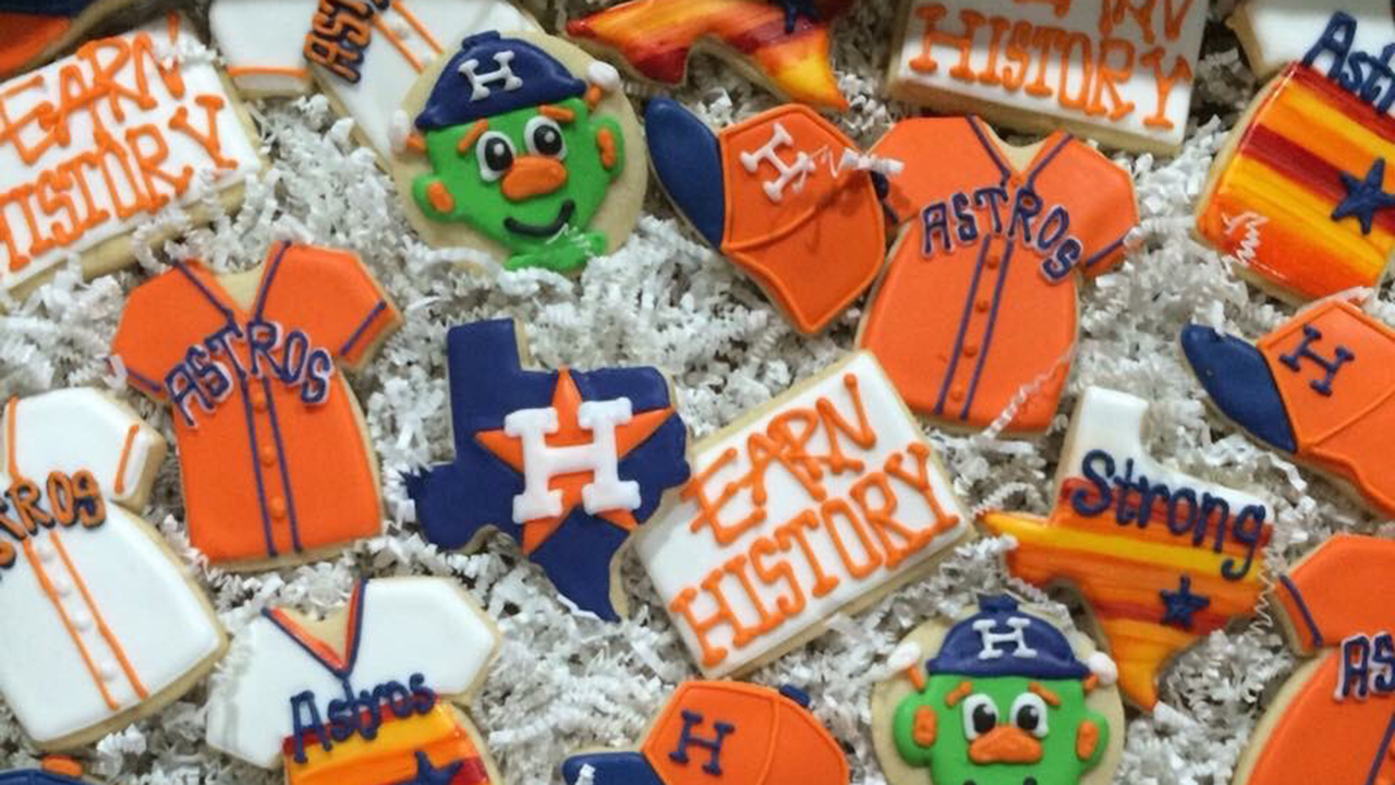 Astros Fans Makes Cookies Sweets To Celebrate World Series