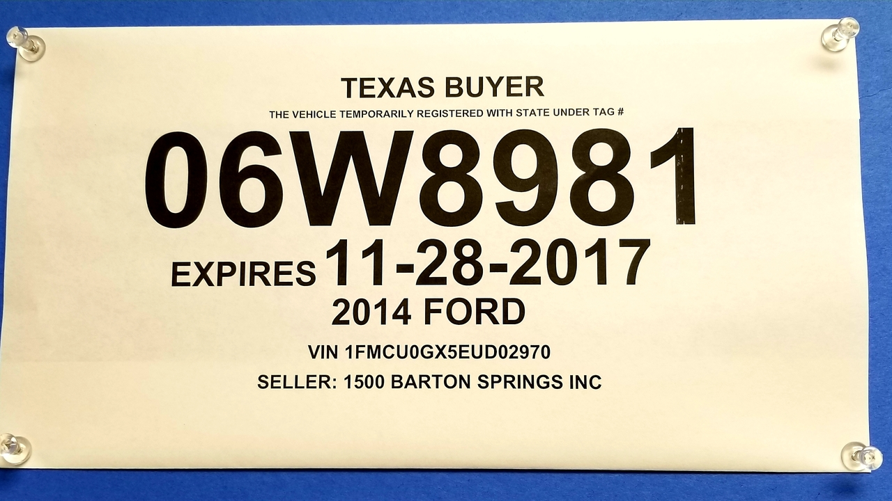 Temporary License Plates Being Sold For Cash