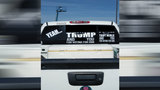 Woman with F-Trump sticker adds Sheriff Troy Nehls to display on truck