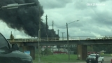 Viewer video of junkyard fire