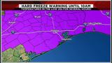 Houston area under Hard Freeze Warning