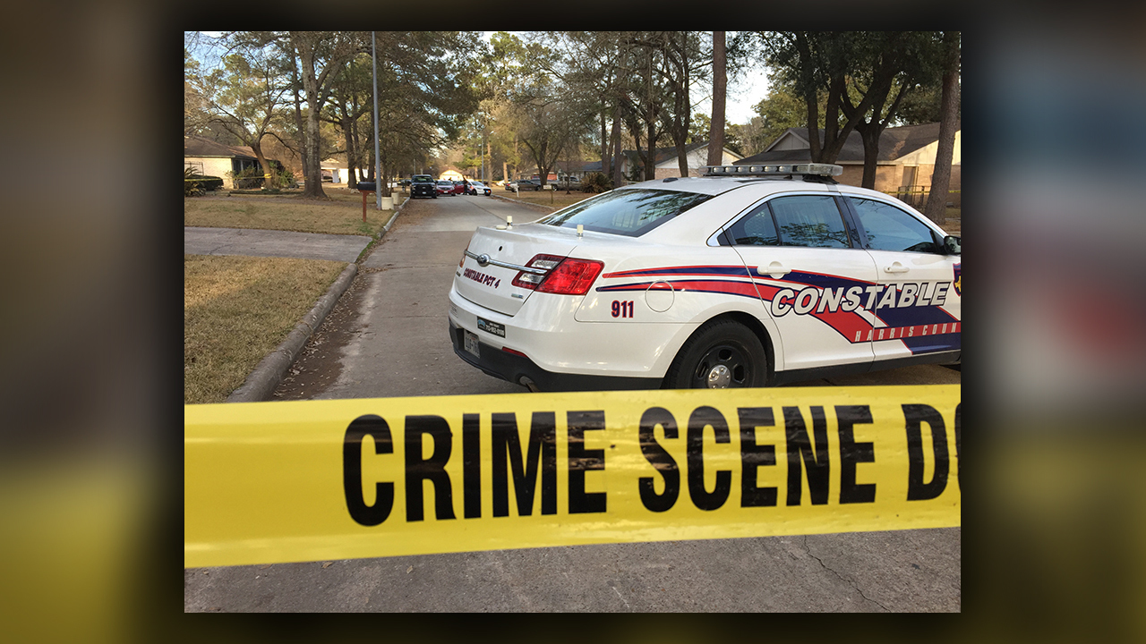 Constable mark herman said the man was shot in the 4400 block of adonis drive near naples drive harris county deputies are searching the area for two