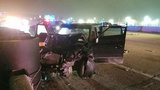 Car strikes Houston Police vehicles while officers investigating fatal&hellip&#x3b;