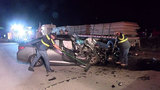 Driver dies after slamming into back of 18-wheeler on I-45