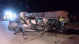 Driver dies after slamming into back of 18-wheeler on I-45
