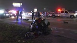 Possible racing leads to death of motorcyclist, multi-vehicle crash on I-45
