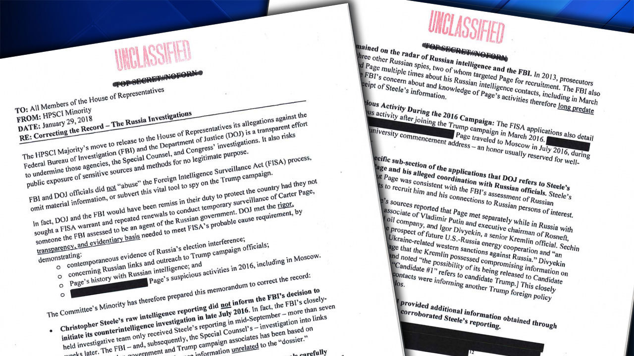 Democratic Intelligence Memo Released With Redactions