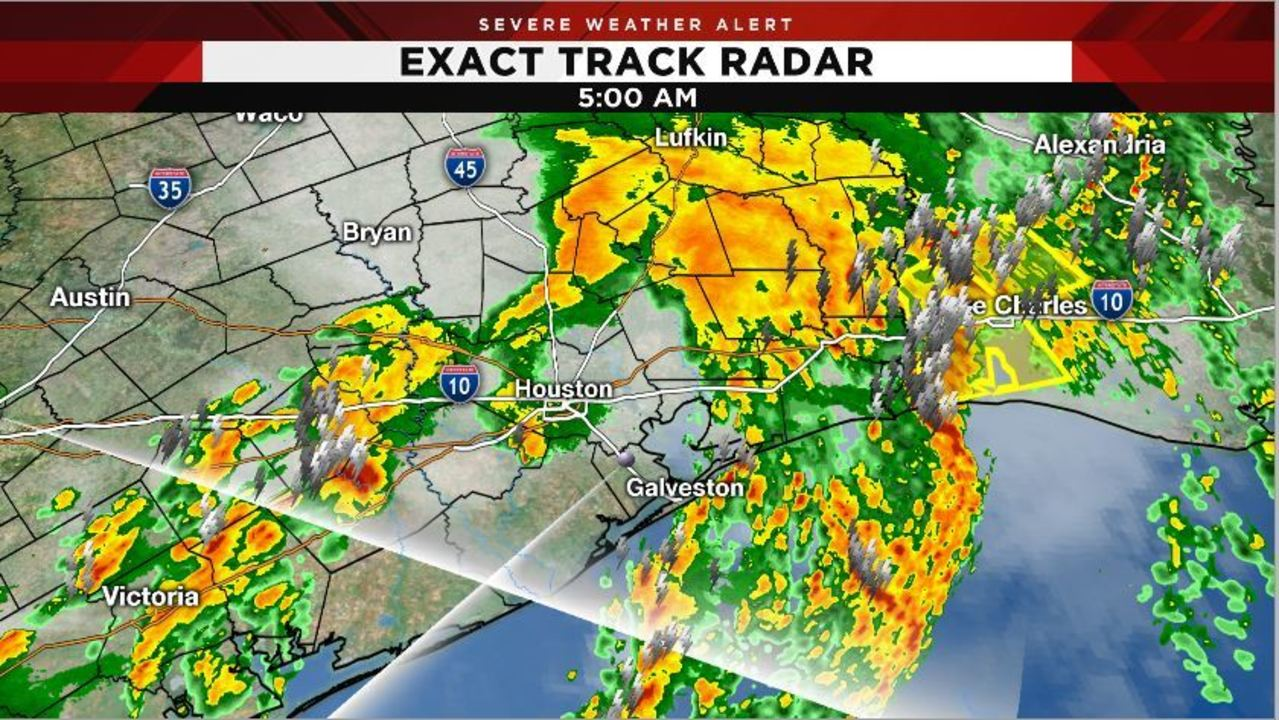 strong line of storms pass through houston  sunny day ahead
