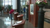 Bush Library closes ahead of burial