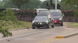 Barbara Bush motorcade arrives in College Station
