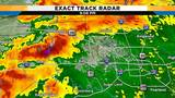 Overnight thunderstorms moving across Houston area