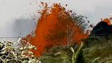 Lava spews from Kilauea volcano in Hawaii