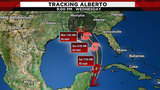 Subtropical Storm Alberto heads to the US Gulf