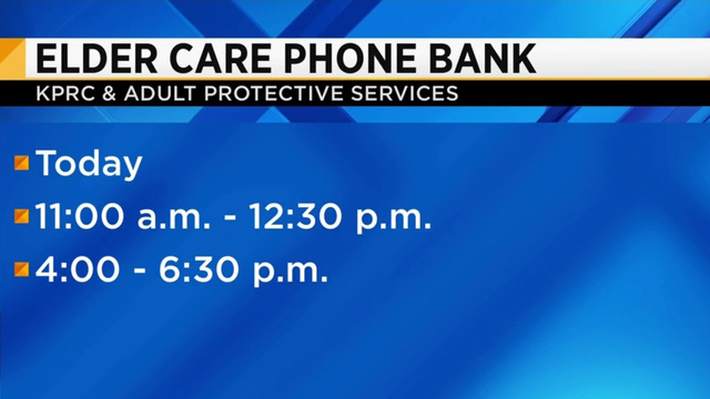 KPRC2 hosts Elder Abuse Prevention Month Phone Bank