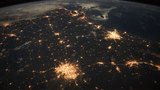 Light show! Space view of Texas