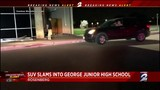 SUV slams into George Junior High School