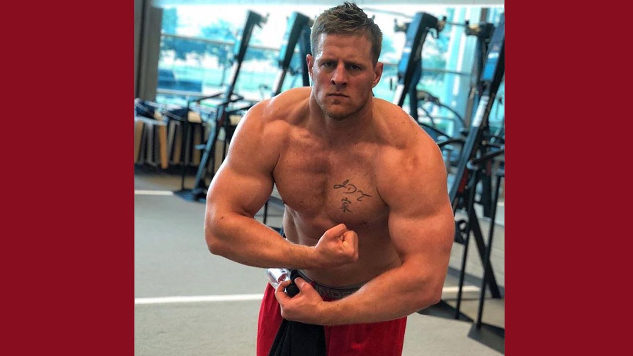 Houston Texans Star Jj Watt Bares Bulging Muscles For Viral