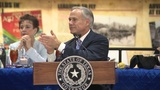Gov. Abbott honors Harvey heroes at Ellington Field