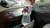 Hot car bottled water test