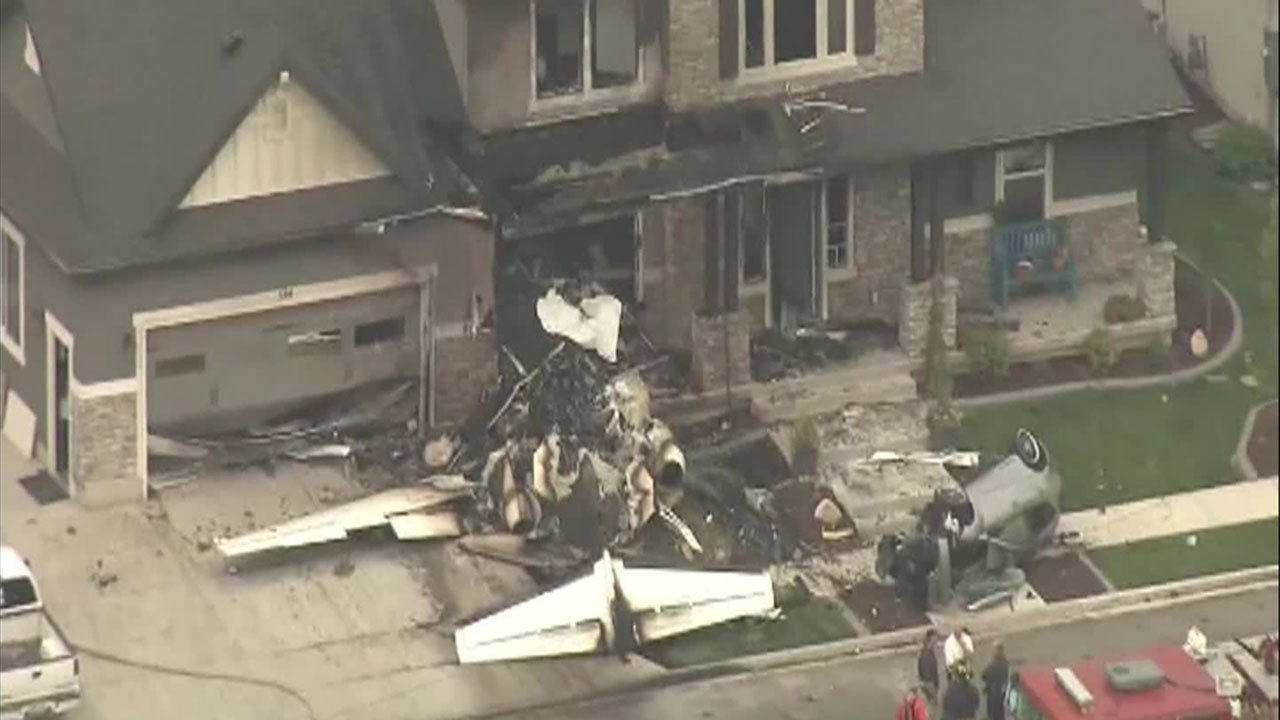 Police: Pilot flies small plane into home in attempt to kill... on plane crash into home, chicago plane crashes into home, private plane crashes into home, miami car crashes into home, colorado plane crashes into home, small plane going down,