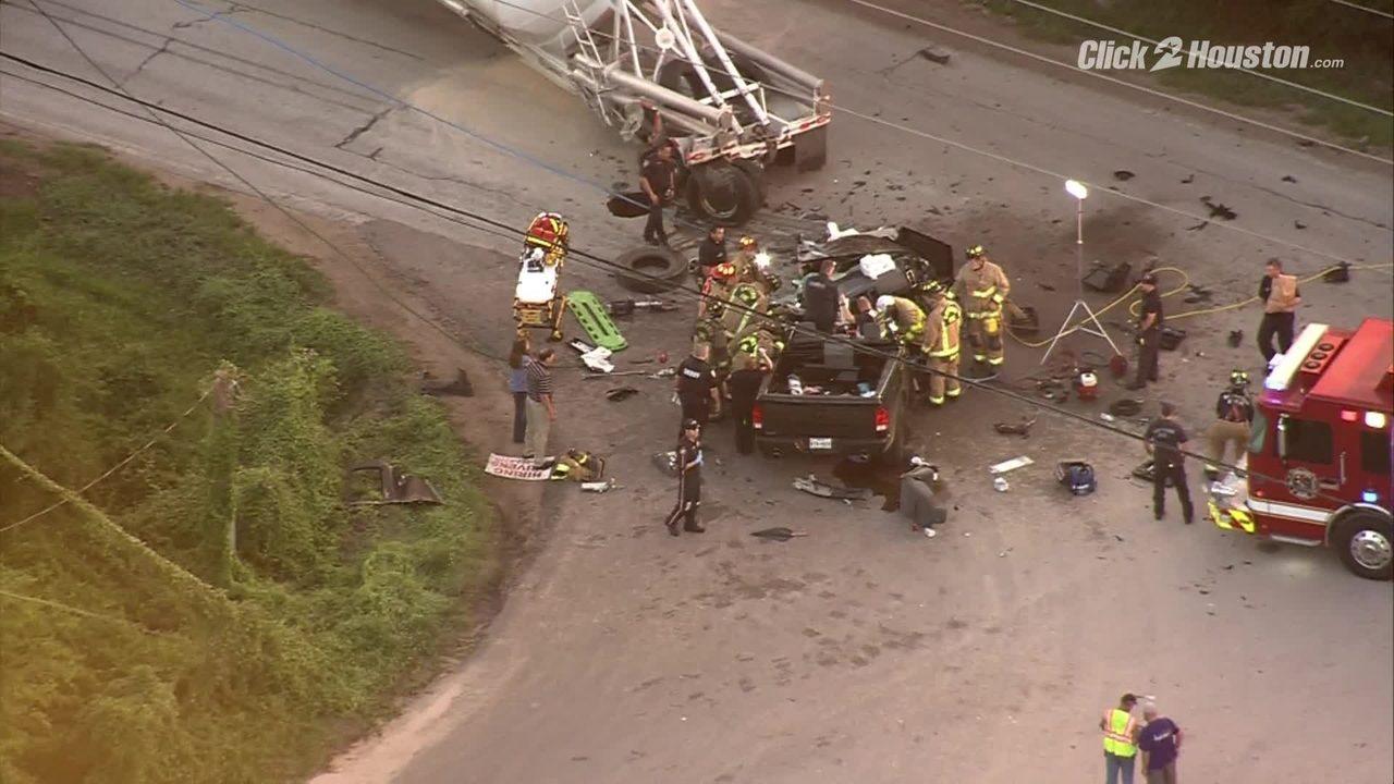 Sky 2 flies over scene of serious crash near Crosby