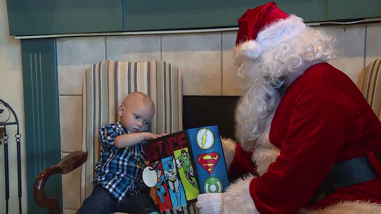2-year-old boy diagnosed with rare brain cancer celebrates...