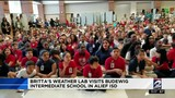 Britta visits Budewig Intermediate School