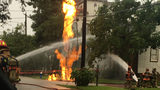 Apparent gas leak causes fire near Museum District