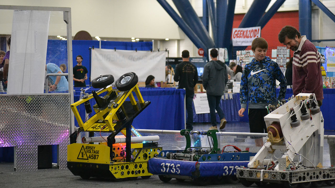 Tech lovers, robot enthusiasts and scientists gathering at...