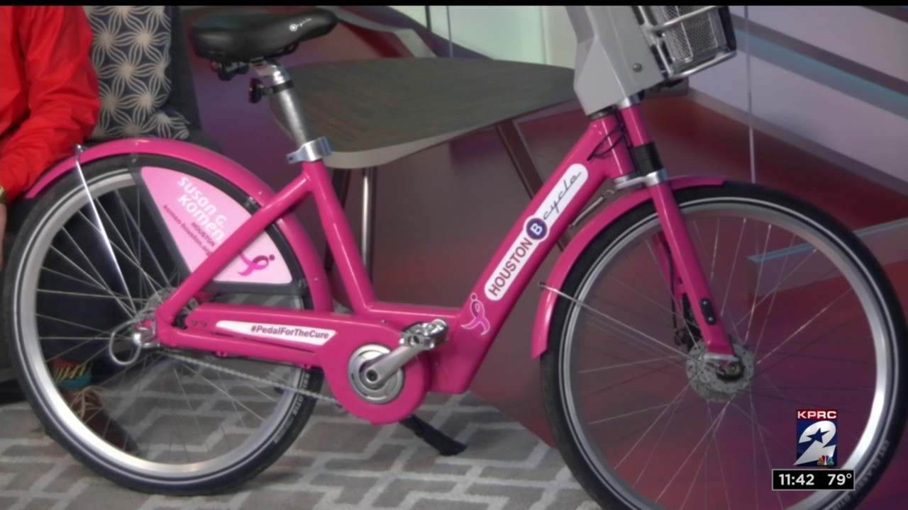 Pink bikes around Houston raising money for Susan G. Komen