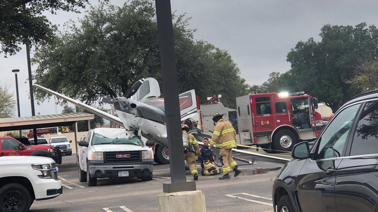 Small Plane Crashes Into Midland Parking Lot