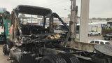 18-wheeler fire cause major traffic delay on North Freeway