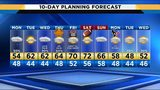 Wet, cool start to week, looking dry Thanksgiving evening