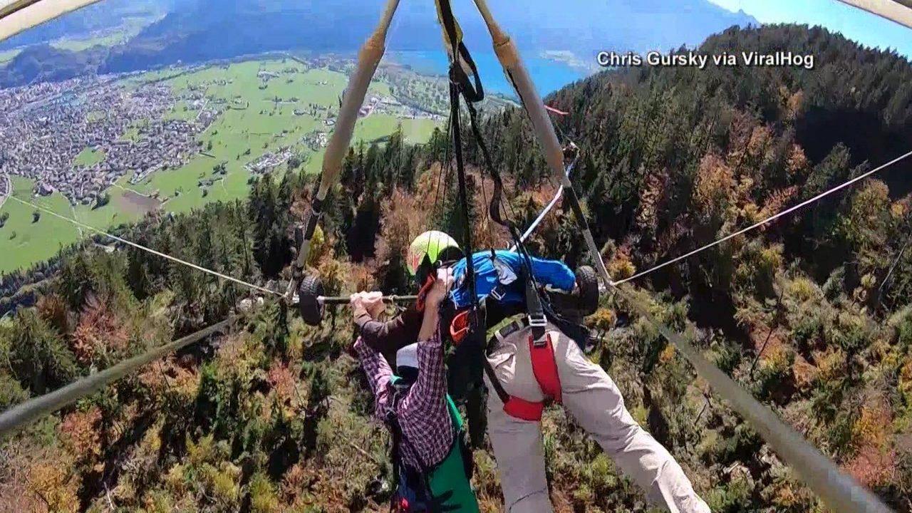 Man survives dangerous hang-gliding incident in Switzerland