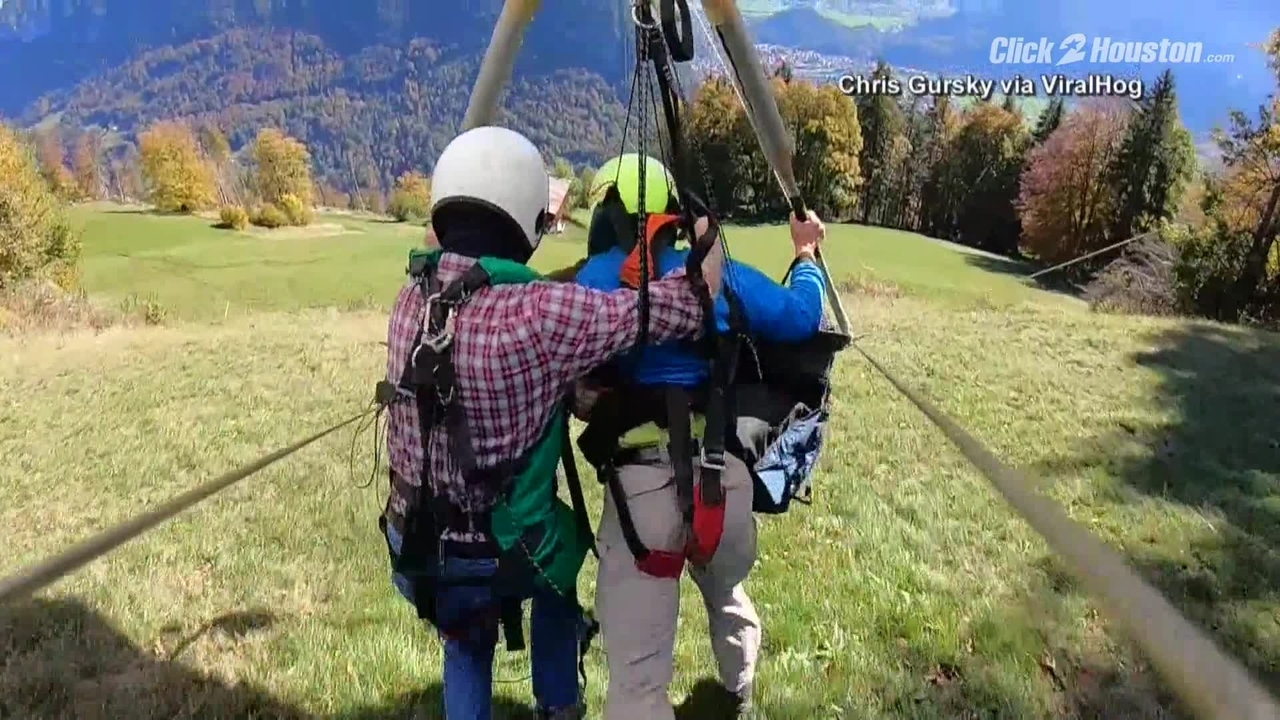 Hang gliding accident in Switzerland