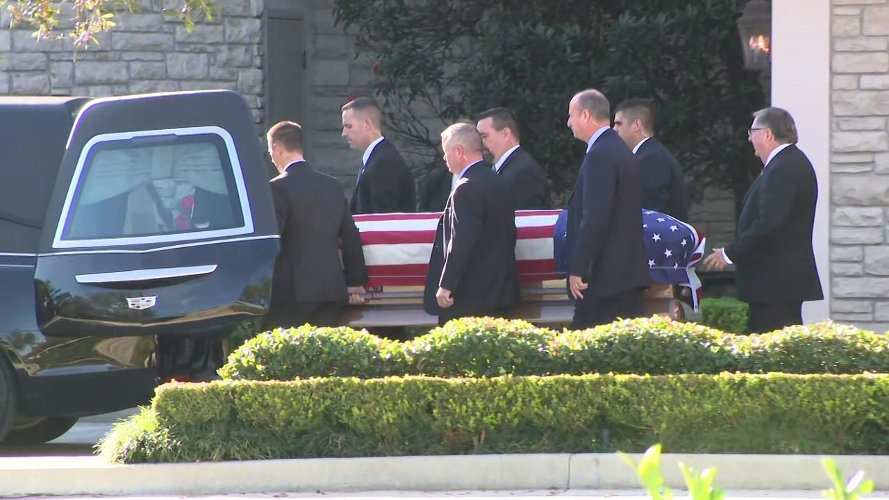 President George H W Bush Returns To Washington For Final Time