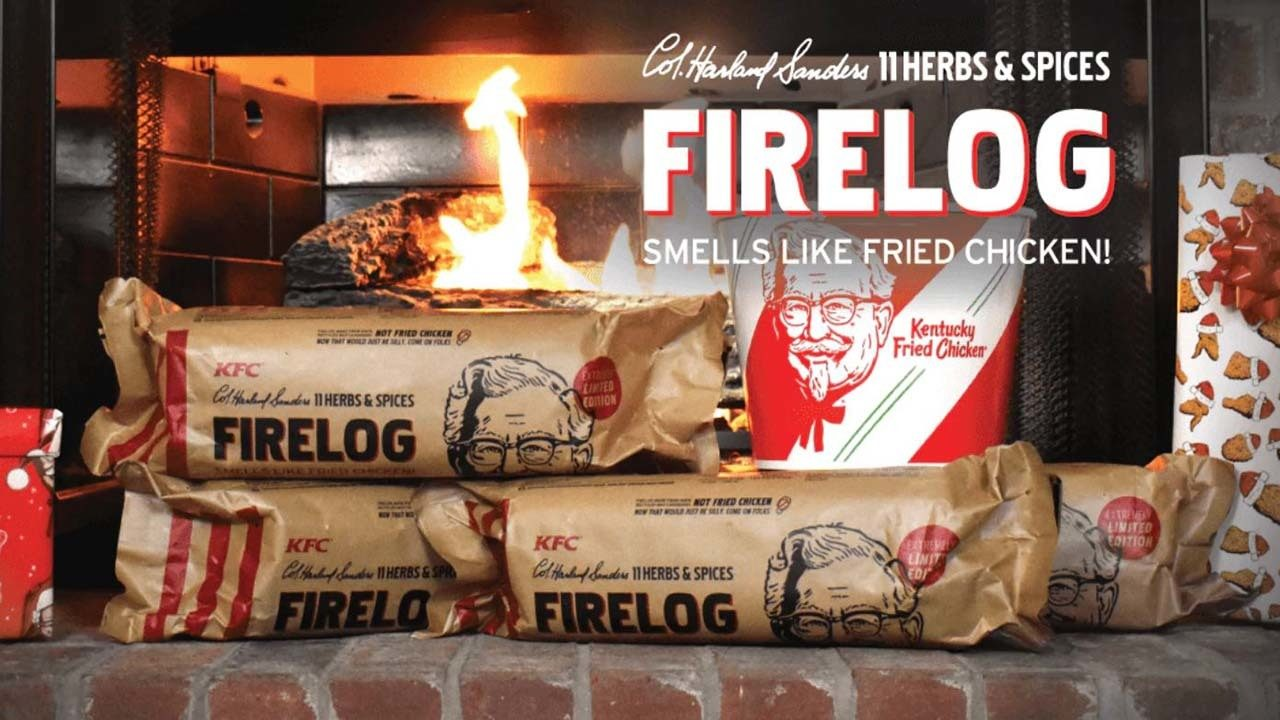 Funny Kfc Pictures 13 Pics: This Is The Fried Chicken-scented Fire Log You Never Knew