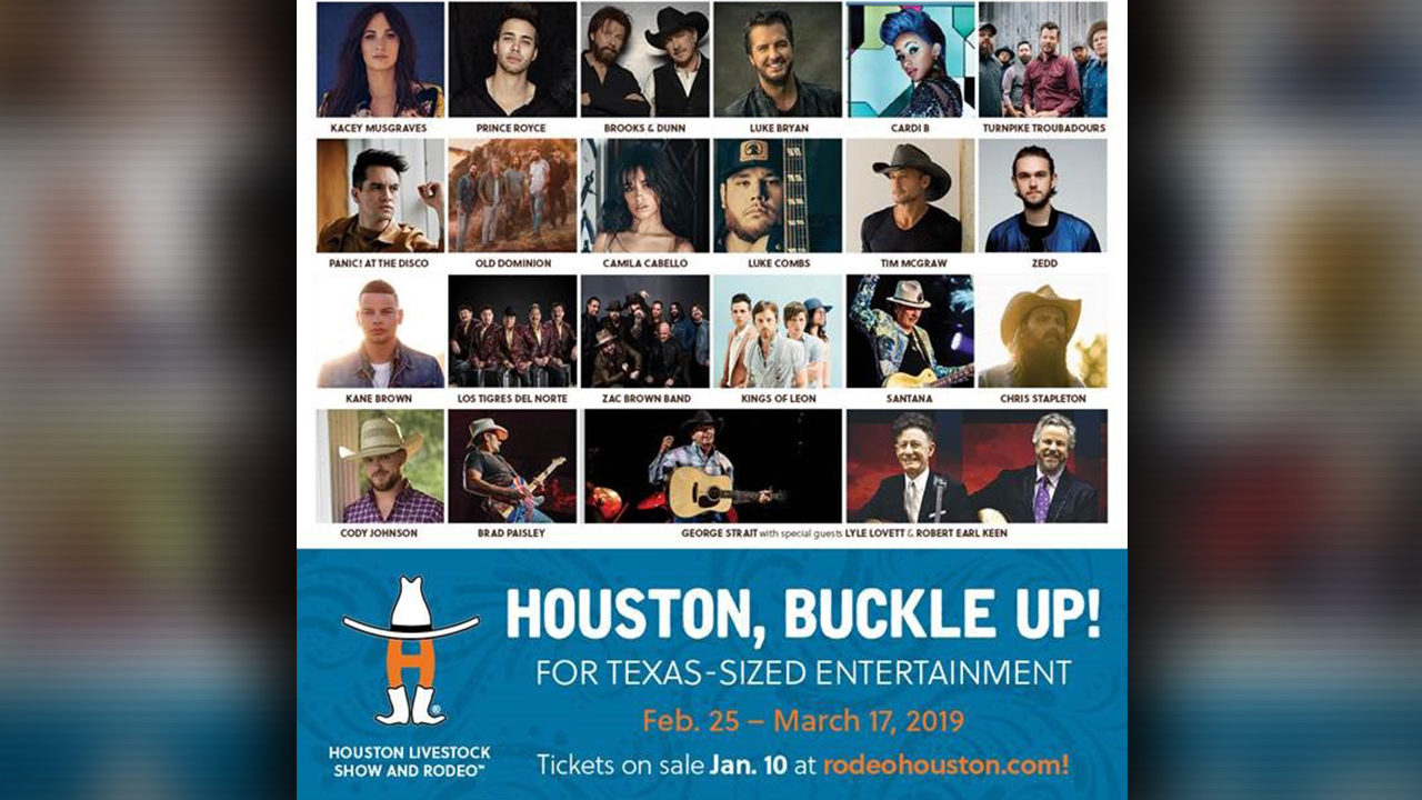 Houston Rodeo Releases 2019 Entertainment Lineup