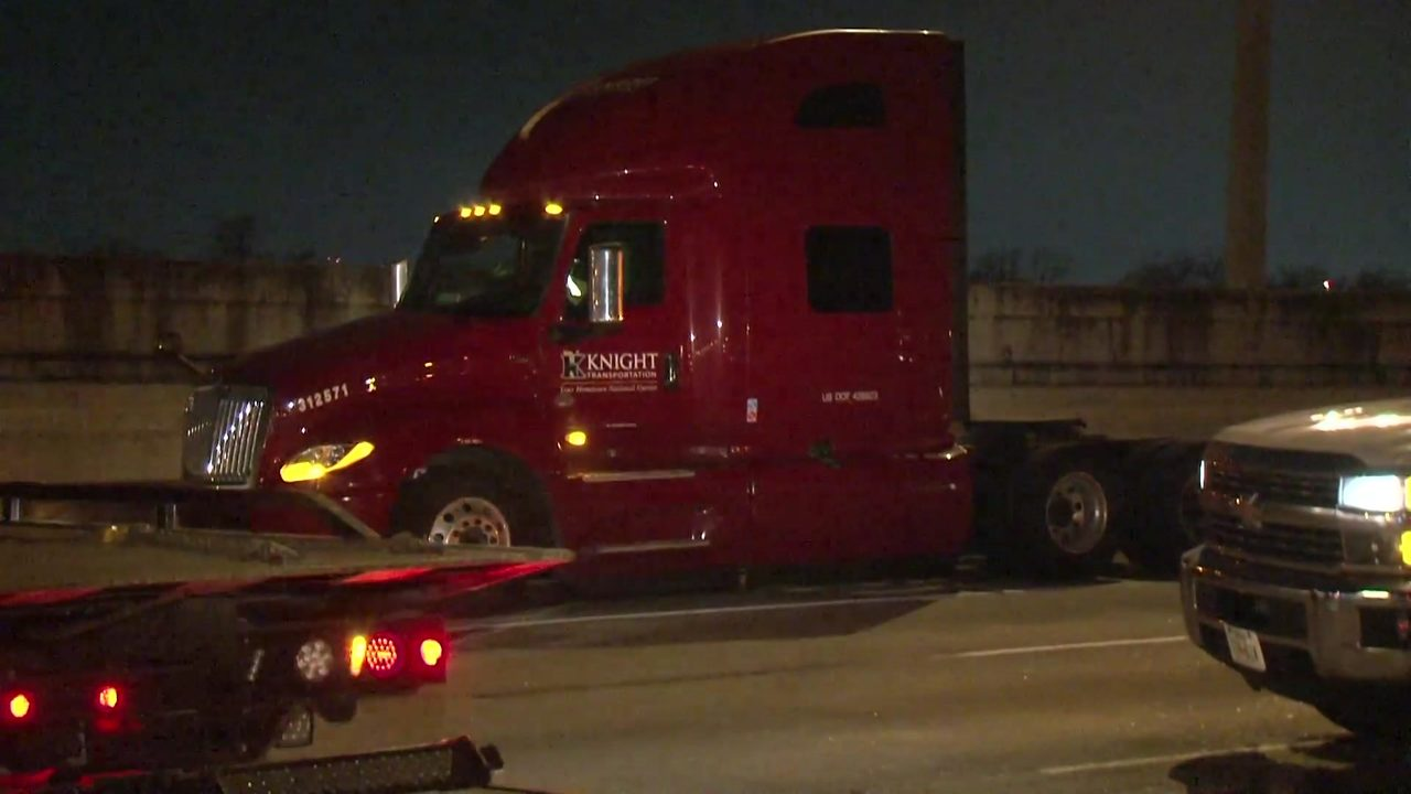 Possibly suicidal woman hit, killed by 18-wheeler after