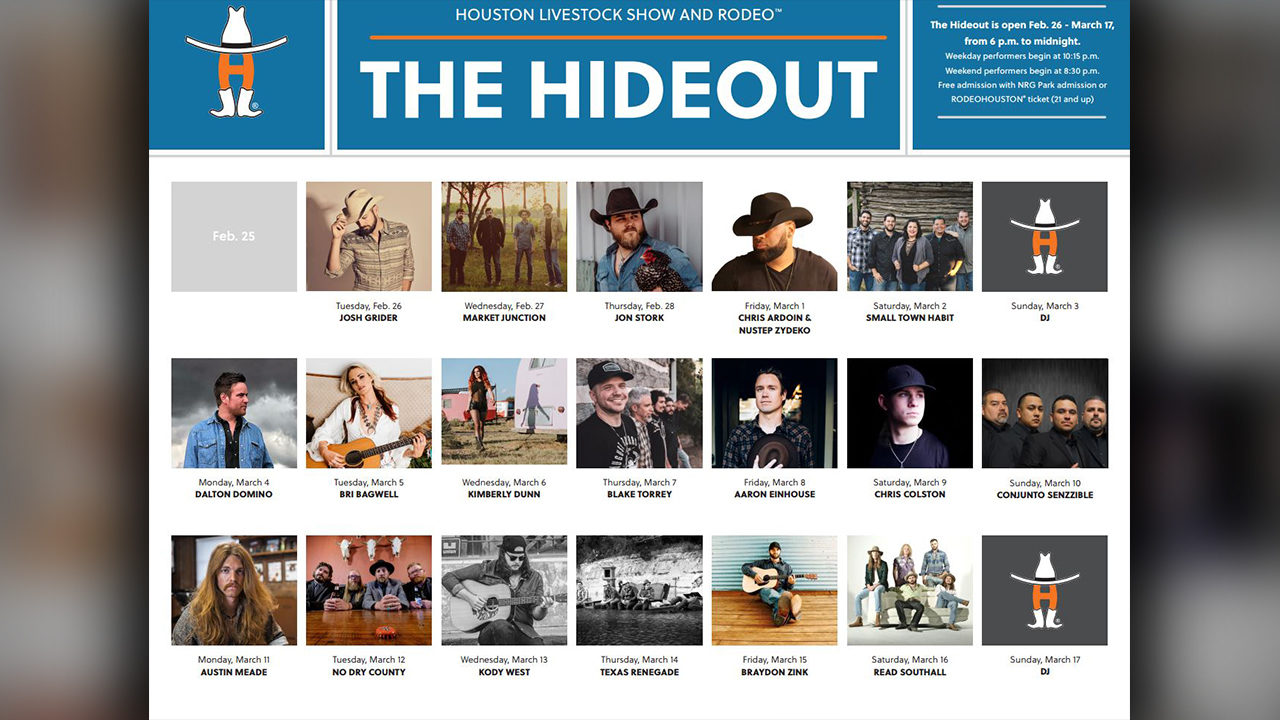 Houston Rodeo S The Hideout Lineup Released