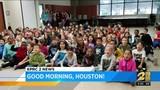 Britta visits Adam Elementary School