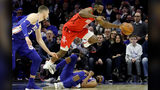 Harden's 30-point streak continues, but Rockets trounced by 76ers