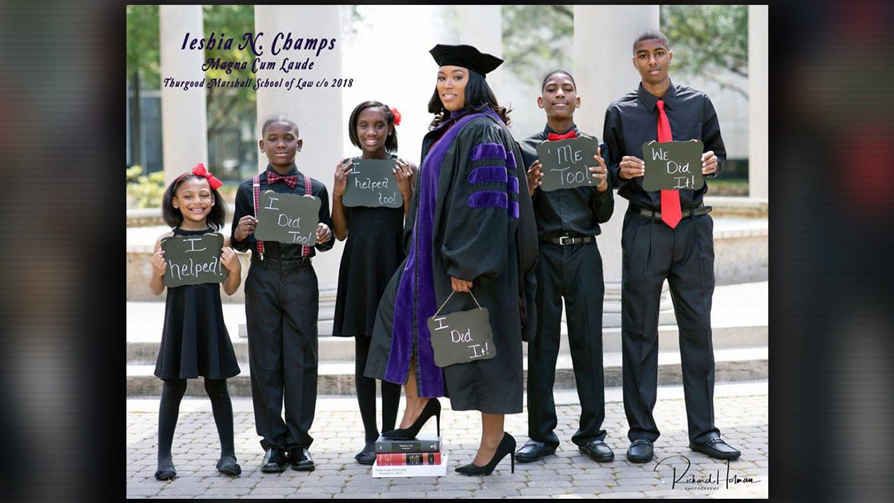 Pasadena mother of 5 hired by county after viral graduation.