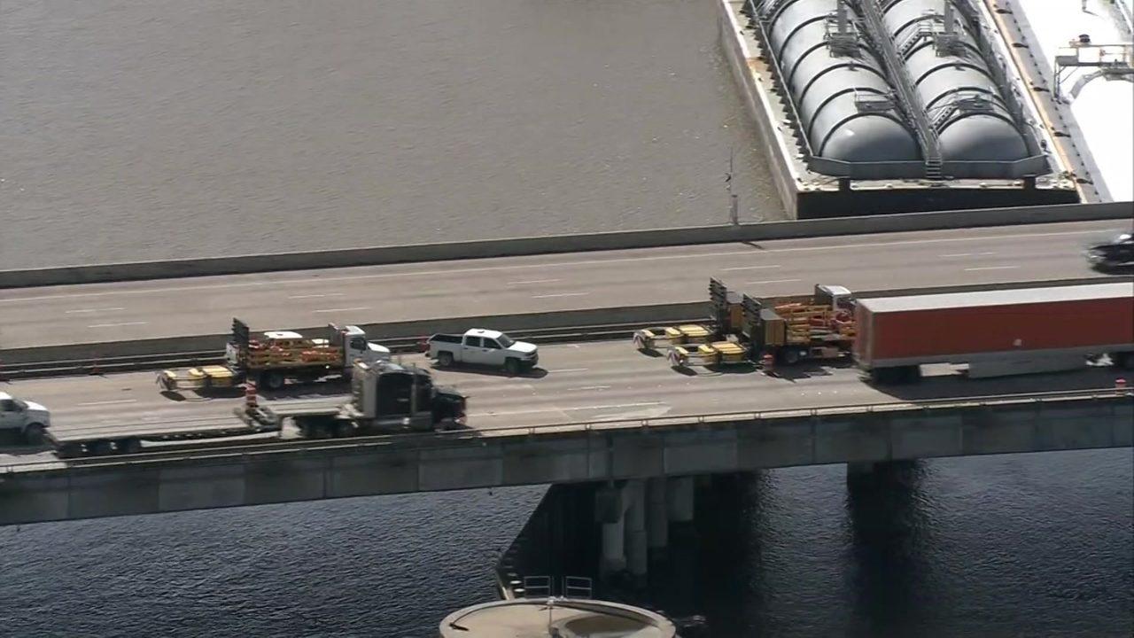 Fluid situation': Repairs to I-10 bridge underway, making