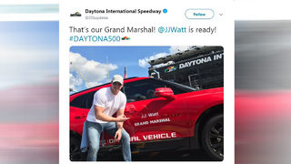 JJ Watt first NFL player to Grand Marshal Daytona 500