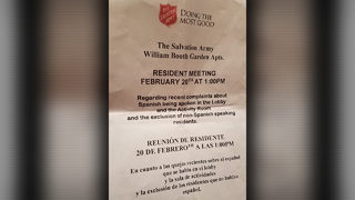 North Houston apartment complex sends out 'English only' letter