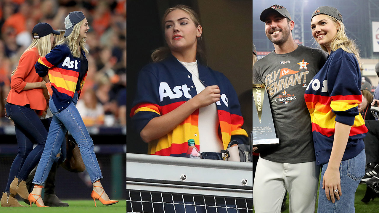 huge selection of 4e617 9b65c Kate Upton' Astros sweater update